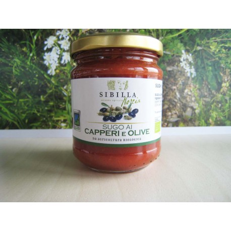 Sugo ai capperi e olive Bio 0,190 gr - Sibilla Norcia