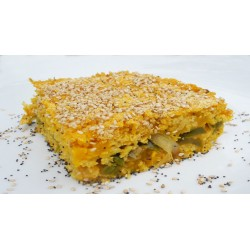 Millet Pie and Chickpea Buds