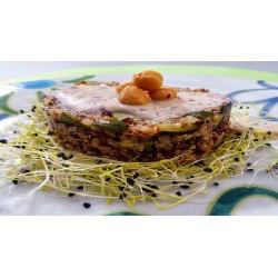 Quinoa ai peperoni e germogli di alfa alfa