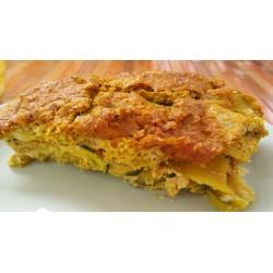 Pastel de Patatas Brócoli y Brotes de Alfalfa