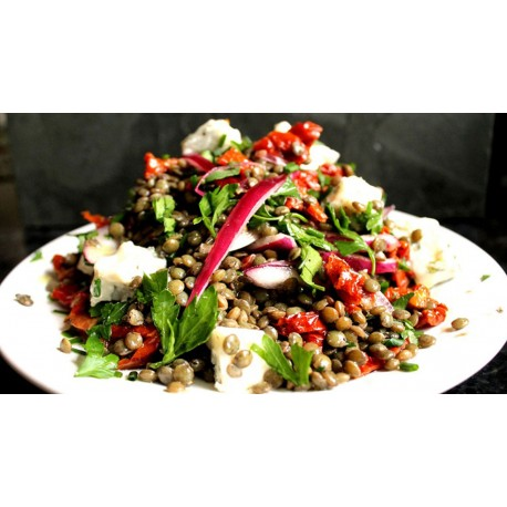 Lentils with Dried Tomatoes