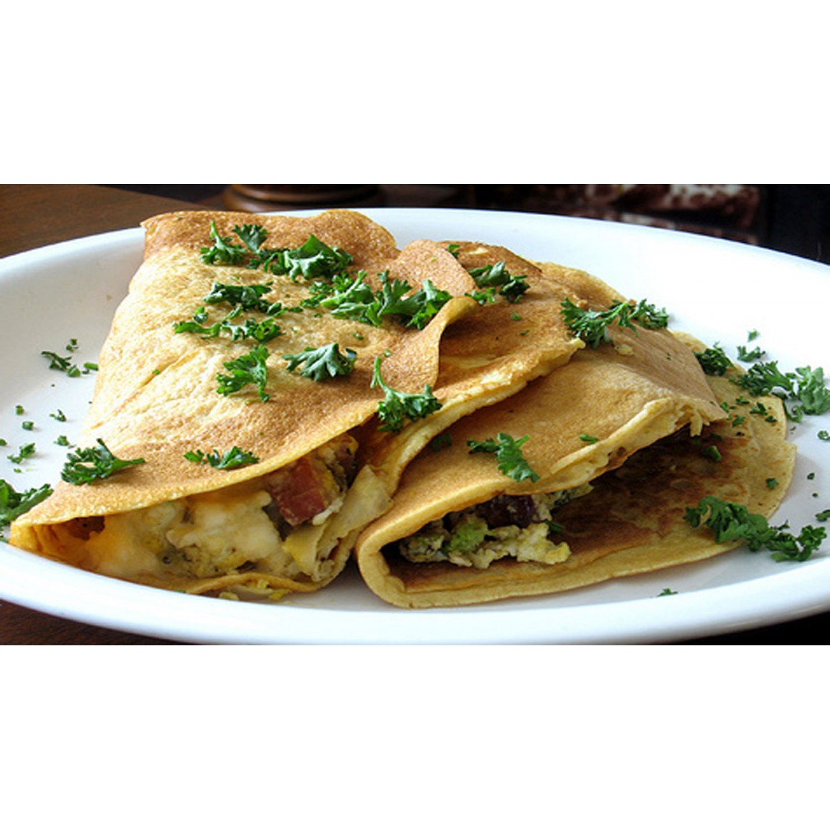 Crepe with Nettles